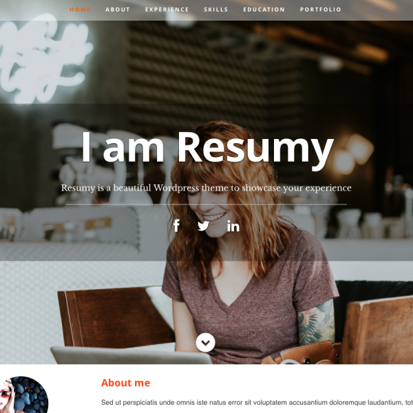 ElleCode_resumy_wordpress_theme
